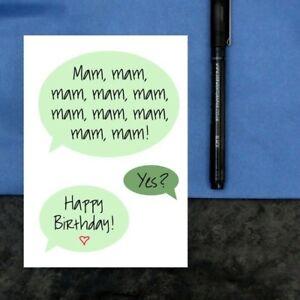 Mam birthday card - funny birthday card for mam - toddler mam card - mam joke
