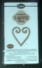 Sizzix  mover & shapers heart & label 2 die set by Eileen Hull  RRP £10.99
