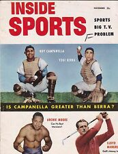November 1953 Inside Sports Baseball & Other Sports Magazine Berra & Campanella