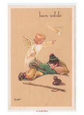 Bonfanti cartolina auguri di Buon Natale angelo bambino stella cometa