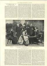 1894 Orleans Family Visited By Queen Isabella Of Spain Princess Helene