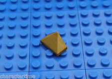 Lego 3048 1x2 Trebble Slope Pearl Gold  X 3 **Brand New Lego**