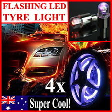 HQ 4x Flashing LED Tyre Light For Car Motorbicycle Bike Bicycle