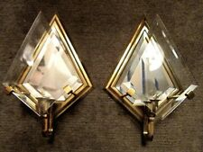 "PARTYLITE 1x ""Infinity"" P 0136 Wandkerzenhalter Messing gold Kristallglasscheibe"