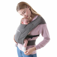Ergobaby Babytrage Bauchtrage Embrace für Neugeborene ab Geburt Heather Grey