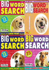 WORDSEARCH BOOK - LARGE PRINT -  4 BOOK SET - 292 PUZZLES - NEW - SET 222
