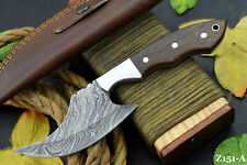 Custom Damascus Steel Hunting Knife Handmade With Walnut Handle (Z151-A)