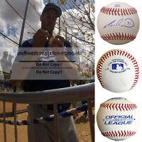 Josh Ravin L.A. Dodgers Signed Autograph Baseball Ball Atlanta Braves Proof COA
