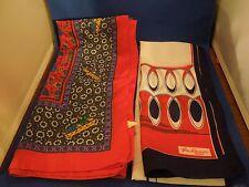 Vintage Lot of 2 Scarves Made in Italy 1 Jim Renoir 1 Handkerchief Style