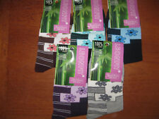 Ladies Bamboo socks, Floral design, Sizes 3-5, 5-7, 5 colours