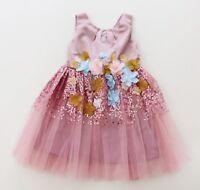 Pink Sequin Party Birthday Wedding Girls Dress Ex-Monsoon - 2-7 Years