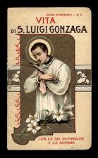 libretto religioso-VITA DI S.LUIGI GONZAGA bertarelli