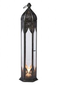Orientalische Marokkanische Laterne Windlicht Garten Glas Vintage Tischlaterne