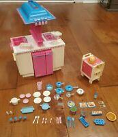 Vintage Barbie Dream Kitchen & Accessories 1984 Dishwasher, Oven, Fridge, Stove