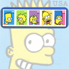 2009  THE SIMPSONS  Bart  STRIP of 5  Attached  MINT Stamps  # 4399-4403  4403a