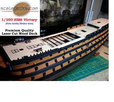 Wood Deck fits 1/100 HMS Victory Heller/Airfix kits by Scaledecks.com