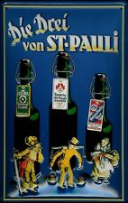 Blechschild Astra Bier Hamburg Die drei von St. Pauli Hummel Schild 20x30