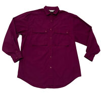 Women's CAREN SPORT  size M Purple button front shirt blouse top