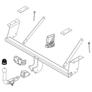 Brink Towbar for Daihatsu Sirion Hatchback 2005-2010 - Detachable Tow Bar