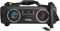 Axess Portable Bluetooth Media Speaker -HD Sound, Wireless MIC, USB,SD, AUX,