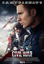 "Captain America - Civil War ( 11"" x 16.5"" ) Movie Poster Print (T6) - B2G1F"