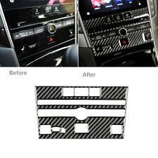 Carbon Fiber Interior CD Panel Frame Trim Cover For Infiniti Q50 Q60 2014-2019