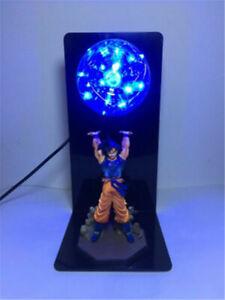 Anime Dragon Ball Z LED Light Son Goku Spirit Bomb Lamp Action Figures XMAS Gift