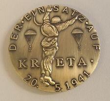 WWII WW2 German Luftwaffe KRETA PARATROOPER Parachute soldiers medal coin