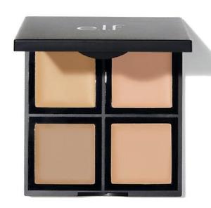 Light Medium ELF 4 Palette Cream Foundation with Mirror  Vit.A E C