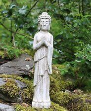 Debout Bouddha Pierre Drift Effet Bois Jardin Extérieur Intérieur Statue Ornement