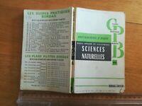 Sciences naturelles Baccalauréat H Roux CH Désiré F Villeneuve 1960