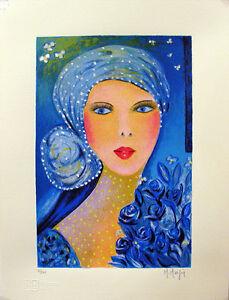"""MARIA MURGIA - """"Figura giovane"""" - Serigrafia a 30 colori cm 40x30 SCONTO 30%"""