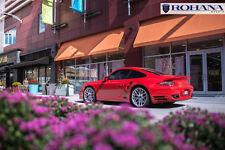 20x9 11 +52 Rohana RC26 5x130 Silver Wheels Fit Porsche 911 Turbo 2007 Staggered