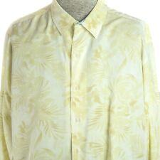 Reyn Spooner XLarge Men's Long Sleeve Hawaiian Yellow Button Front Cotton