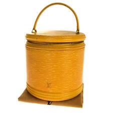 Auth Louis Vuitton Epi Cannes M48039 Vanity Bag Yellow 31GC161