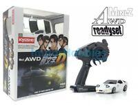 Kyosho Mini-Z AWD 4WD Initial-D Mazda RX-7 FC3S Blanco Drift Pack 2.4ghz 32611W