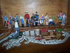 Schleich Lot Farm Workers, Cowboys, Food Products for Animals Cow, horses,