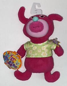 Mattel The Sing-a-ma-jigs Pink Green Shirt Plush Sings A Tisket A Tasket NWT