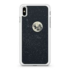 Icy White Magnificent Full Moon Milky Way Stars Galaxy Space Phone Case Cover