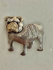 Solid Sterling Silver Bulldog Pin/Pendant Designed By Courtney, See Other Silver