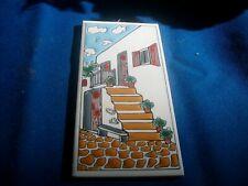 """Vintage Handpainted Greek Tile - 3"""" x 6"""" - Stairs"""