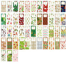 Printed Patterned Tissue christmas Wrapping Paper designer 4 sheets - 48 designs