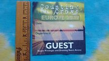 """Counting Crows Europe 2009 Escort Privileges 3"""" Satin Backstage Pass Sticker"""