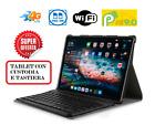 PC tablet 10.1 Pollici Quad Core 64GB + 4GB Android 9 Dual Sim+tastiera+custodia