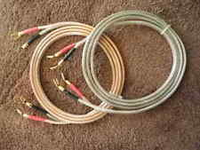 HI END SPEAKER CABLES, STRAIGHT 8'S, 742 STRAND 8AWG OFC, WITH SPADE TERMINALS