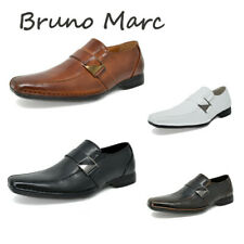Bruno MARC Men Square Toe Leather Slip On Loafers Oxford Dress Shoes Size 6.5-13