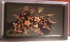 Authentic AIZU Lacquer Jewelry Box from Japan Musical Mother of Pearl Goldleaf