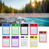 Mini Stationery Transparent Solar Calculator Scientific Calculator Gift P6R5