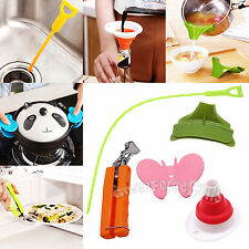 1 Set Anti-scald Devices Funnel Hopper Drain Hook Cleaning Kitchen Tools Gadget