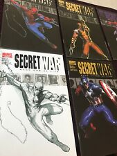 MARVEL COMICS SECRET WAR issues 1 to 4  inc sketch edtion of 1, 5 books 2006